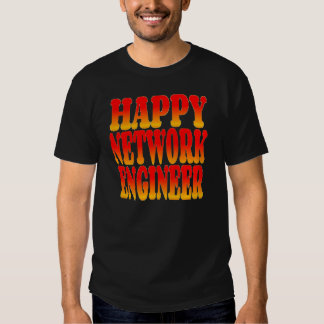 Happy Network Engineer in Cheerful Colors T-shirt