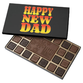 Happy New Daddy in Cheerful Colors Assorted Chocolates
