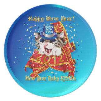 Happy New (Mew) Year-2012 Plate