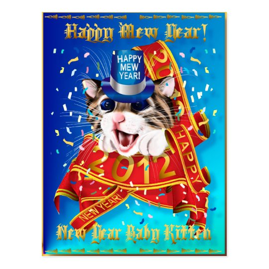 Happy New (Mew) Year-2012 Postcard