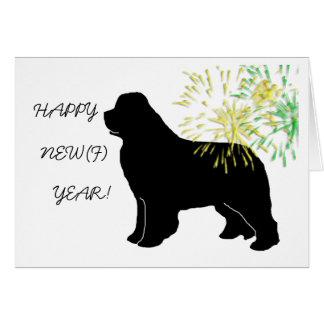 Happy New Newf Year Greeting Card