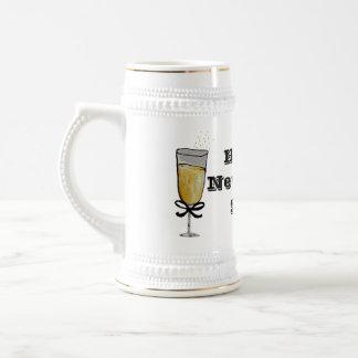 Happy New Year 18 Oz Beer Stein