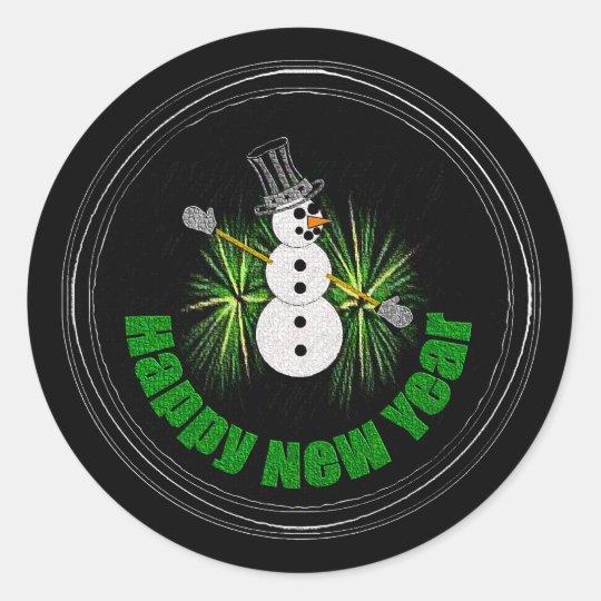 Happy New Year 1 Sticker