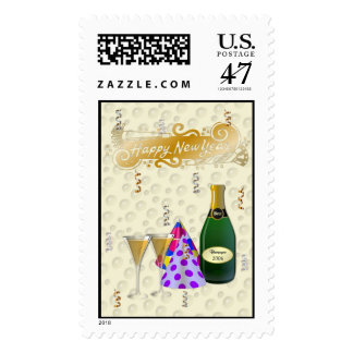 Happy New Year 2006 ChampagneToast Postage Stamp