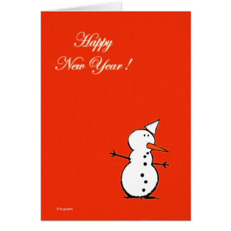 Happy New Year 2008 ! (red version) Greeting Card