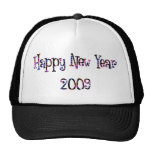 Happy New Year 2009 Cool Colors Hat