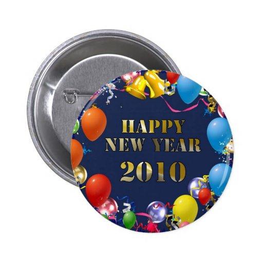 Happy New Year 2010 2 Inch Round Button