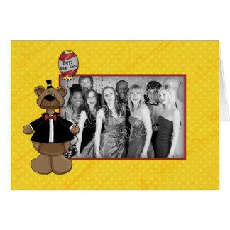 Happy New Year 2010 - Bear Design Card