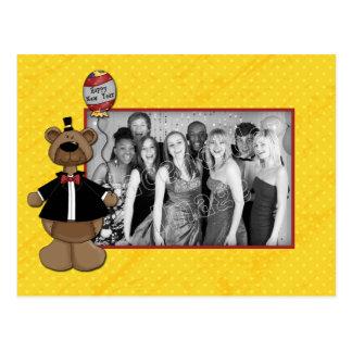 Happy New Year 2010 - Bear Design Postcard