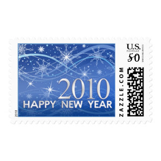 Happy New Year 2010 - Fancy Snowflakes Postage