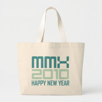 Happy New Year 2010 (MMX) Tote Bags