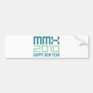 Happy New Year 2010 (MMX) Car Bumper Sticker