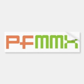 Happy New Year 2010 (MMX) Bumper Sticker