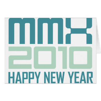 Happy New Year 2010 (MMX) Card