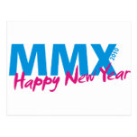 Happy New Year 2010 (MMX) Postcard