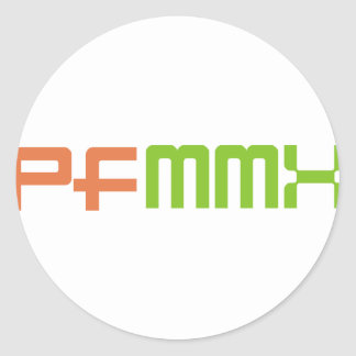 Happy New Year 2010 (MMX) Classic Round Sticker
