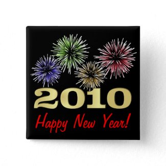 Happy New Year 2010 Party Pin button