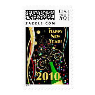 Happy New Year 2010 -  Postage Stamps