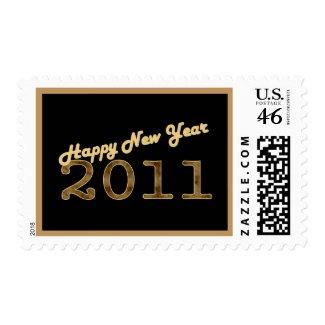 happy new year 2011 bronze stamp