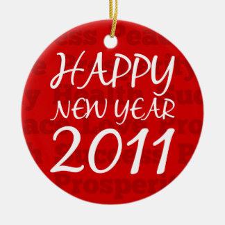 Happy New Year 2011 Ceramic Ornament