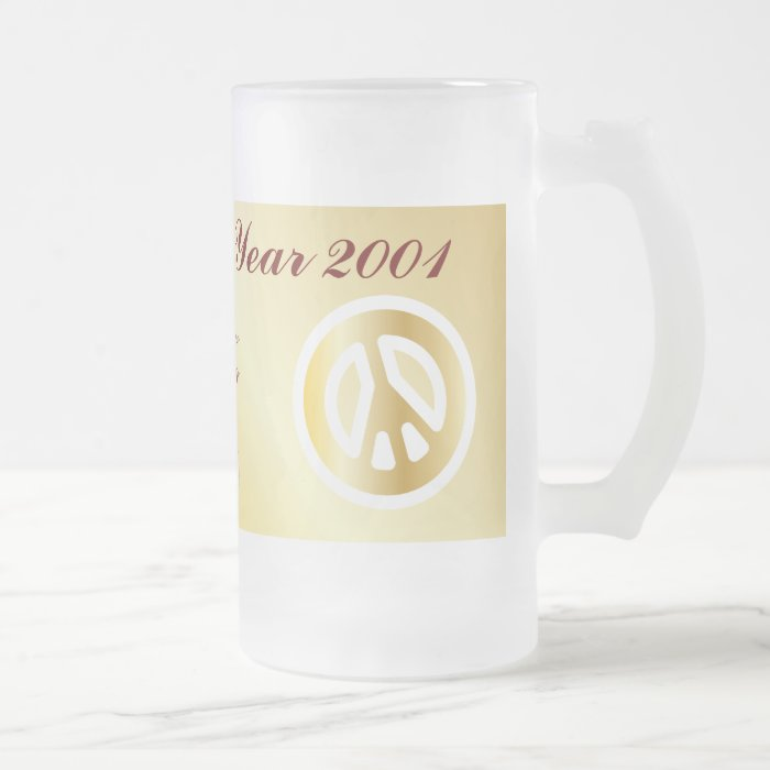 Happy New Year 2011-Cust. Frosted Glass Beer Mug