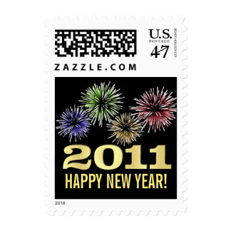 Happy New Year 2011 - Holiday Postage Stamps