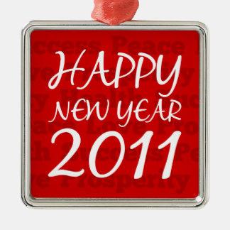 Happy New Year 2011 Metal Ornament