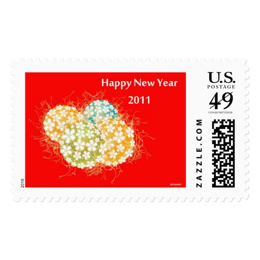 HAPPY NEW YEAR 2011 POSTAGE STAMPS