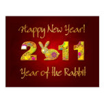Happy New Year 2011 - Year of the Rabbit Postcards
