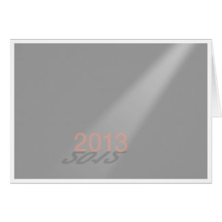 Happy New Year 2012-13 Gray Greeting Cards