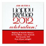 Happy New Year 2012 black red Invitation