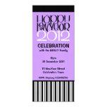 "Happy New Year 2012 black white Party Invitation 4"" X 9.25"" Invitation Card"