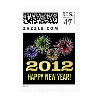 Happy New Year 2012 - Holiday Postage Stamps