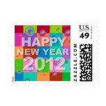 Happy New Year 2012 Postage Bubbles