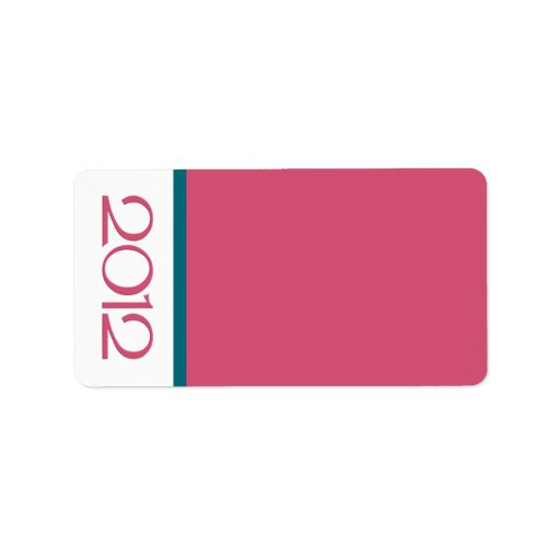 Happy New Year 2012 teal cranberry Address Label