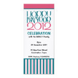 Happy New Year 2012 teal cranberry Party Invite