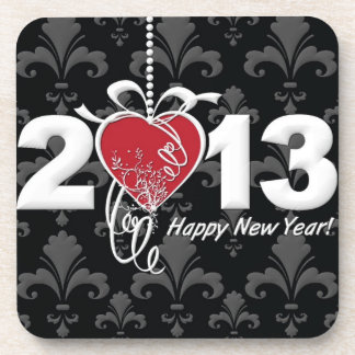 Happy New Year 2013 Beverage Coaster
