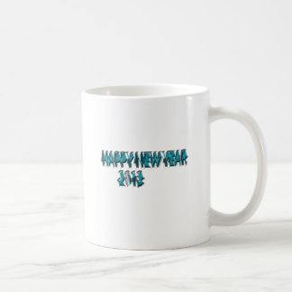 Happy New Year 2013 Blue 3 Dimension Mug