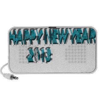 Happy New Year 2013 Blue 3 Dimension Speaker