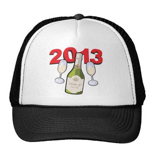 Happy New Year 2013 Celebration Mesh Hat