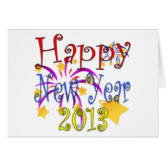 Happy New Year 2013 Greeting card