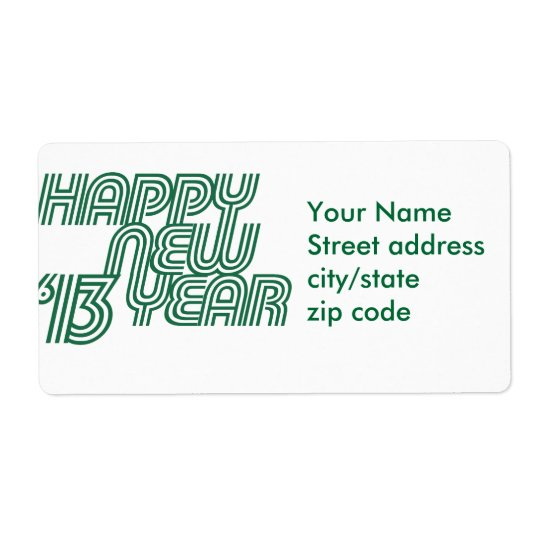 Happy New Year 2013 Label