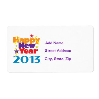 Happy New Year 2013 Shipping Label