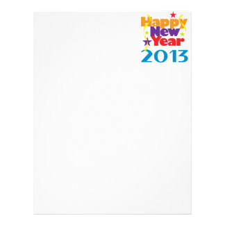 Happy New Year 2013 Letterhead Template