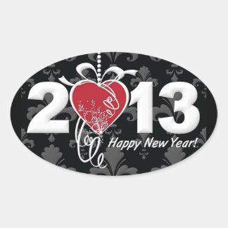Happy New Year 2013 Oval Sticker