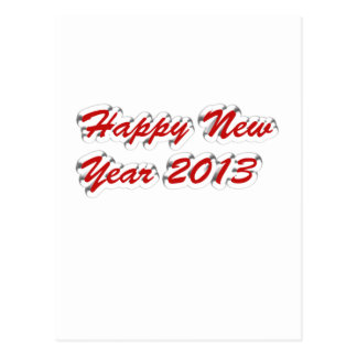 Happy New Year 2013 Postcard