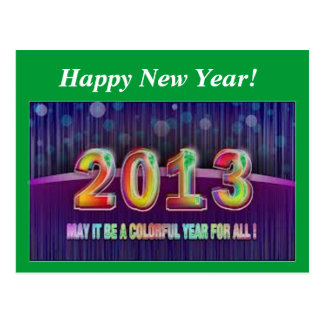 Happy New Year 2013 Post Cards