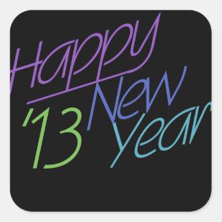 Happy New Year 2013 Square Sticker