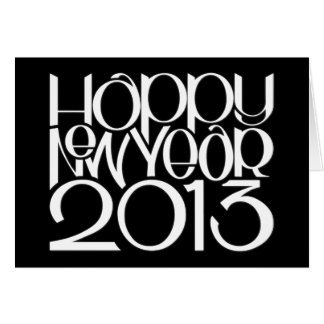 Happy New Year 2013 white Card