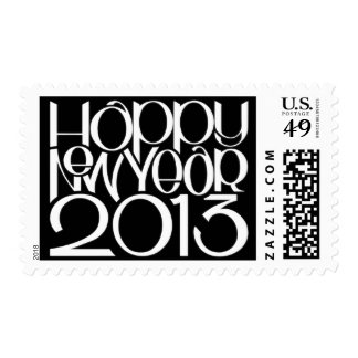 Happy New Year 2013 white Stamp